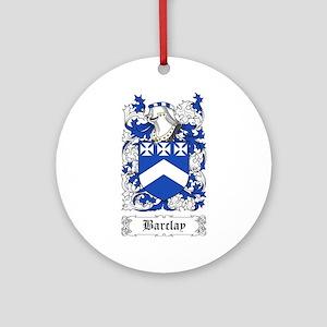 Barclay [English] Ornament (Round)